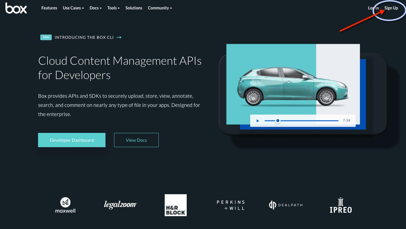 Creating a Box API Developer Key for Memphis Documents